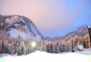 Wintery twilight.