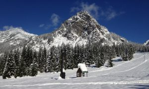 Guye Peak and the little tow shack.